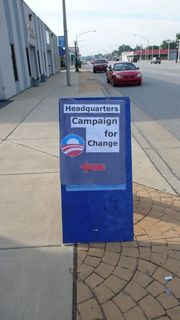 Obama Headquarters Sign